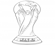 fifa world cup football trophee coupe du monde officiel dessin à colorier