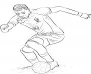 kylian mbappe joueur france coupe du monde 2018 dessin à colorier