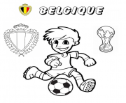belgique football coupe du monde 2018 dessin à colorier