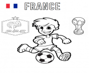 france football coupe du monde 2018 dessin à colorier