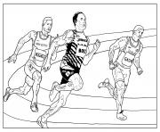 Coloriage sport course athletisme
