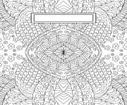 Coloriage Binder Cover Adult Relaxing