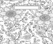 Coloriage Binder Cover Adult Flowers Antistress