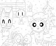Coloriage kawaii noel par jim