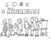 Coloriage maternelle rentree scolaire