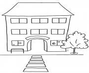 Coloriage Garderie Ecole.Coloriage Ecole A Imprimer Dessin Sur Coloriage Info