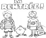 Coloriage ecole rentree scolaire