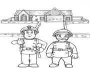 sam le pompier et son chef dessin à colorier