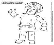 sam le pompier heureux dessin à colorier