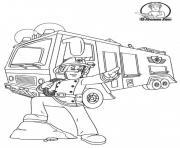 fireman sam dessin à colorier
