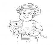 Coloriage Sam Le Pompier à Imprimer Dessin Sur Coloriage Info