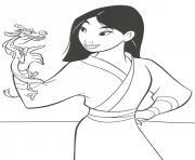Coloriage mulan mandala disney dessin