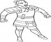 Coloriage mulan en soldat dessin
