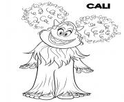 yeti et compagnie Cali Cute Yet dessin à colorier