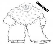 yeti et compagnie Gwangi dessin à colorier