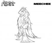 yeti et compagnie Meechee dessin à colorier