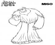 yeti et compagnie Migo dessin à colorier