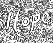 Coloriage hope breast cancer