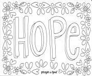 hope espoir cancer du sein dessin à colorier