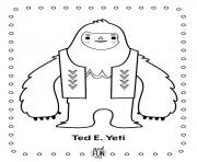 Coloriage yeti grand homme snowman dessin