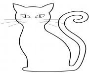 chat noir halloween dessin à colorier
