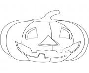 citrouille halloween enfants dessin à colorier