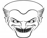 joker halloween dessin à colorier