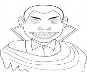 vampire dracula halloween dessin à colorier