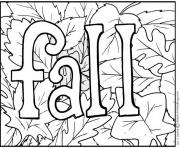 Coloriage automne autum text