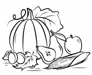 Coloriage automne harvest fall