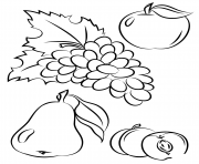 Coloriage automne fruits fall