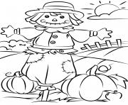 automne scene fall dessin à colorier