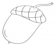automne acorn dessin à colorier