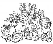 automne harvest dessin à colorier
