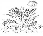 automne harvest automne dessin à colorier