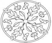 mandala automne dessin à colorier