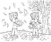 saison automne enfants dessin à colorier