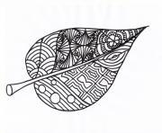 feuille automne adulte dessin à colorier