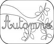 automne arbre texte dessin à colorier