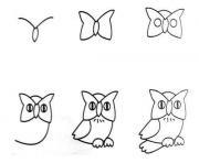 comment dessiner un hibou dessin facile dessin à colorier