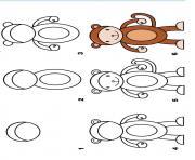 dessin facile a faire un singe dessin à colorier