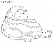 Coloriage yeti bigfoot dessin