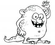 Coloriage monstre yeti