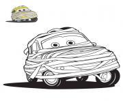 cars halloween en momie dessin à colorier
