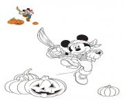 halloween disney mickey le pirate dessin à colorier