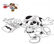 Coloriage halloween disney mickey mouse pirate