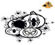 citrouille halloween spiderman dessin à colorier