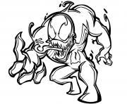 venom aime pas spiderman dessin à colorier