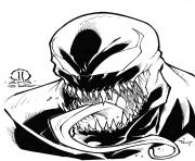 Coloriage venom marvel sketch by joeyvazquez