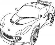 Coloriage ancienne voiture de course ferrari dessin